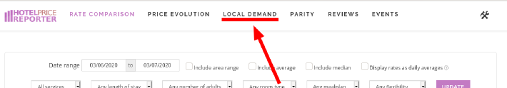 Navigate to the local demand pages